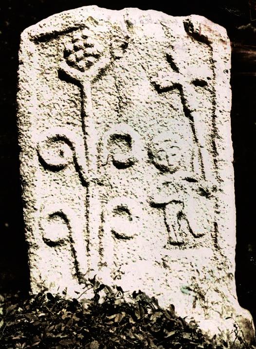 Bogumilisches Steindenkmal aus Ostbosnien